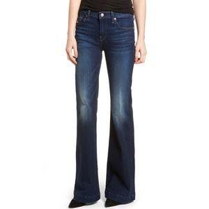 7 For All Mankind Dojo Flare Jeans Dark Wash